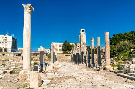 Al Mina archaeological site in Tyre, Lebanon Stock Photo