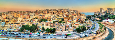 Cityscape of Tripoli, the largest city in northern Lebanon 写真素材 - 116231526