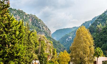 Mountains near the Jeita Grotto in Lebanon
