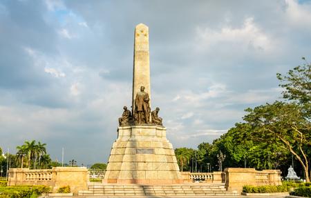 El Monumento a Rizal en el Parque Rizal - Manila, Filipinas Foto de archivo