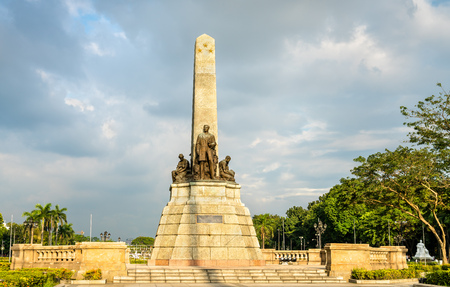 Het Rizal-monument in Rizal Park - Manilla, Filippijnen Stockfoto
