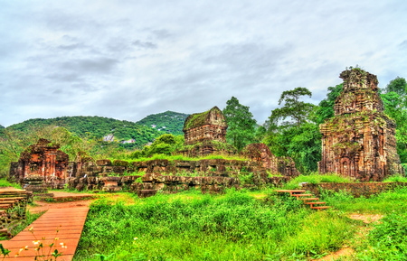 Ruins of a Hindu temple at My Son in Vietnam