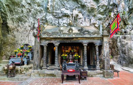 Den Tran Buddhist temple at Trang An scenic area in Vietnam 写真素材