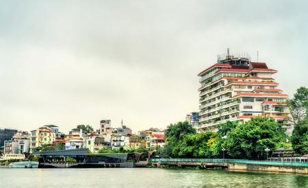 Cityscape of Hanoi at West Lake, Vietnam