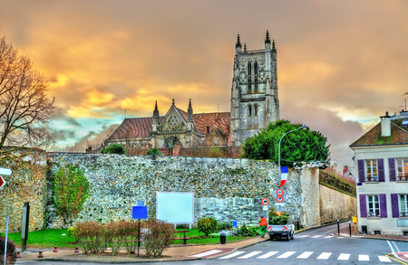 Meaux Cathedral in Paris region of France