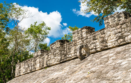 Mayan Pyramid at Coba in the Quintana Roo State of Mexico