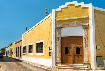 Traditional houses in San Francisco de Campeche, Mexico