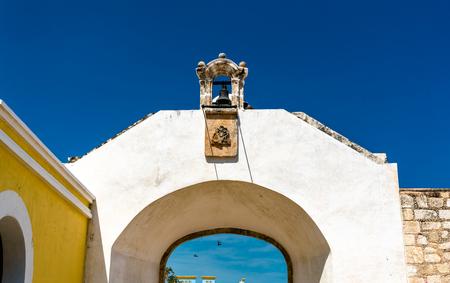 Puerta de Mar, city gate of San Francisco de Campeche in Mexico
