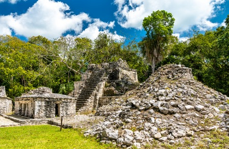 Ancient Mayan Pyramid at Muyil in Quintana Roo, Mexico