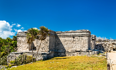 Ancient Mayan ruins at Tulum in Mexico