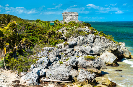 Mayan ruins at the Caribbean Seaside - Tulum, Mexico