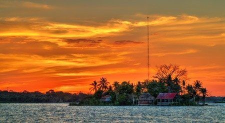 Santa Barbara Island on Lake Peten Itza, Guatemala