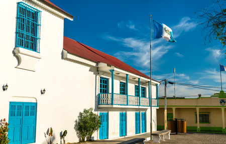 Town Hall of Flores in Guatemala