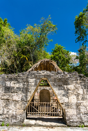 Ancient Mayan ruins at Tikal in Guatemala Stock Photo