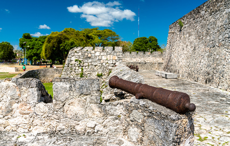 San Felipe Fort in Bacalar, Mexico 写真素材