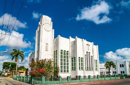 Wesley Methodist Church in Belize City Фото со стока