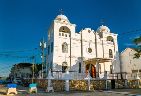 Nuestra Senora de Los Remedios Church in Flores, Guatemala Stock Photo