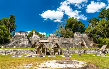 North Acropolis at Tikal in Guatemala Stock Photo