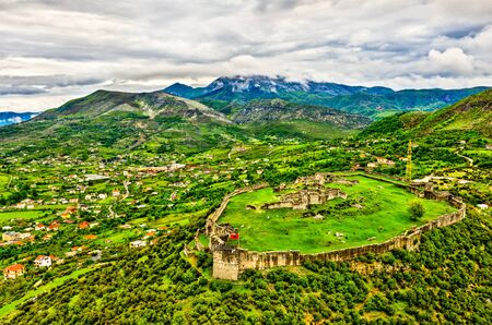 View of Lezhe Castle in Albania