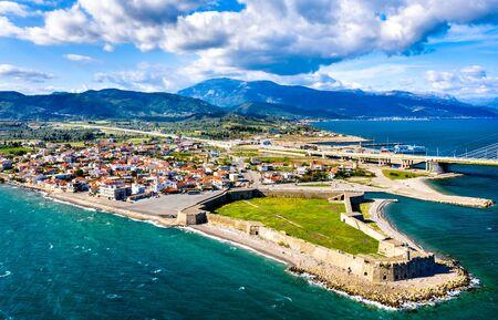 Antirrio Castle in Aetolia-Acarnania, Greece Stock Photo