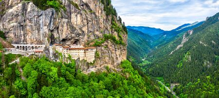 Monastère de Sumela dans la province de Trabzon en Turquie