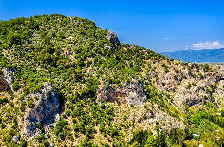 The Tombs of the Kings at Kaunos in Turkey