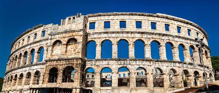 Arène romaine à Pula, Croatie Banque d'images