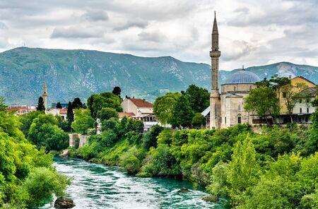 Koski Mehmed Pasha Mosque in Mostar, Bosnia and Herzegovina Stock Photo