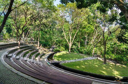 Amphitheater in Ubud Monkey Forest on Bali, Indonesia Imagens