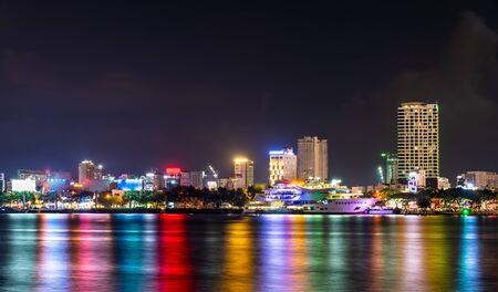 Night cityscape of Da Nang in Vietnam Stock fotó