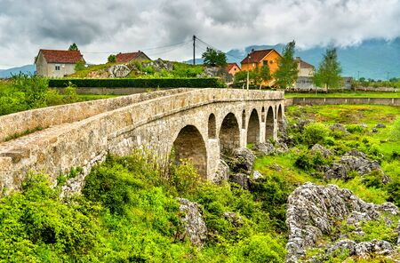 Roman Bridge across the Mostanica River near Niksic in Montenegro