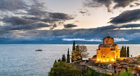 Church of St. John at Kaneo - Ohrid, Macedonia 스톡 콘텐츠