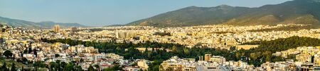 View of Athens from Filopappou Hill, Greece