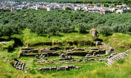 Ruins of Ancient Sparta in Greece 스톡 콘텐츠
