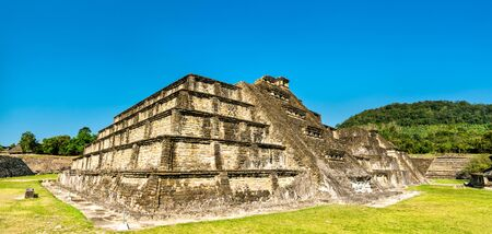 Templo Azul at El Tajin, a pre-Columbian archeological site in southern Mexico Stock Photo