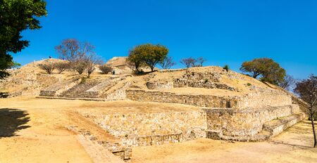 Monte Alban archaeological site in Oaxaca, Mexico