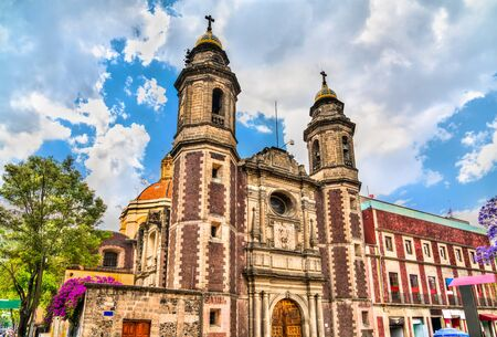 Saint Michael the Archangel Church in Mexico City, Mexico