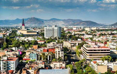 Skyline of Mexico City, the capital of Mexico 스톡 콘텐츠
