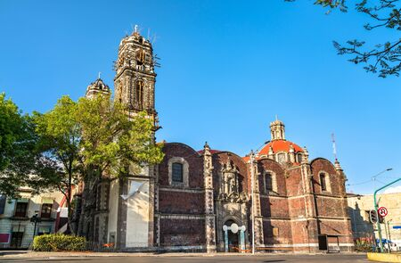 View of the Santa Veracruz Monastery in Mexico City