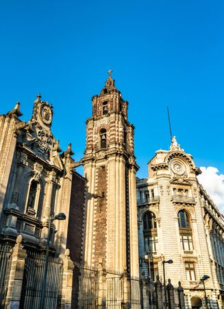 Architecture of Downtown Mexico City, the capital of Mexico
