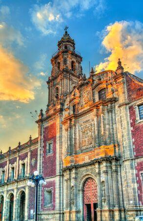View of the Santo Domingo Church in Mexico City