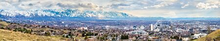 Panorama of Salt Lake City in Utah Stock Photo