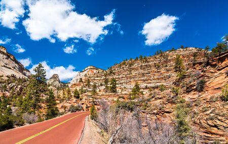 Carretera Zion-Mount Carmel en el Parque Nacional Zion