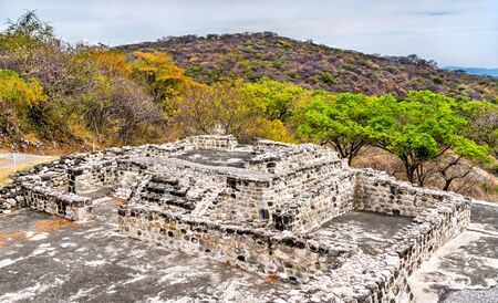 Xochicalco archaeological site, UNESCO world heritage in Morelos, Mexico Stock Photo