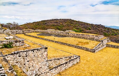 The primary ballcourt at the Xochicalco archaeological site, UNESCO world heritage in Morelos, Mexico