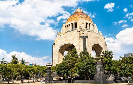 Das Denkmal der Revolution auf dem Platz der Republik in Mexiko-Stadt