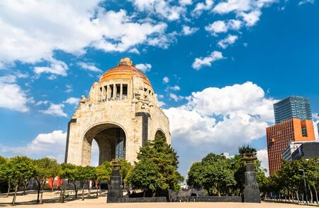 The Monument to the Revolution in Republic Square, Mexico City Stockfoto