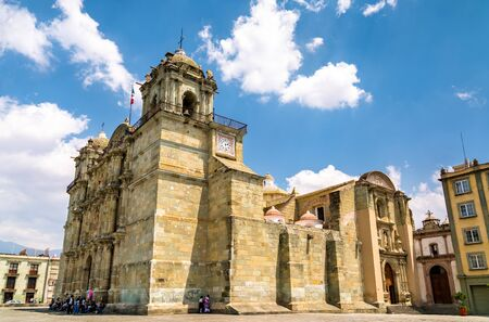 Cathedral of Our Lady of the Assumption in Oaxaca de Juarez, Mexico