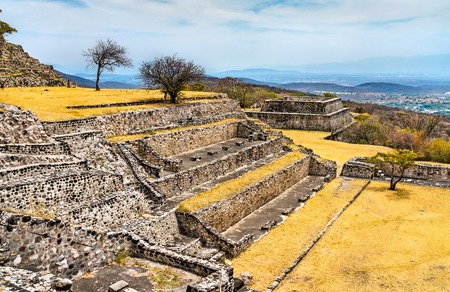 Xochicalco archaeological site, UNESCO world heritage in Morelos, Mexico Editorial