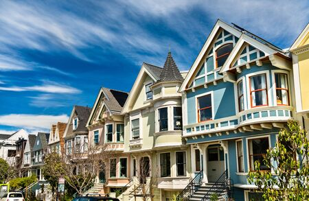 Traditional Victorian houses in San Francisco - California, United States